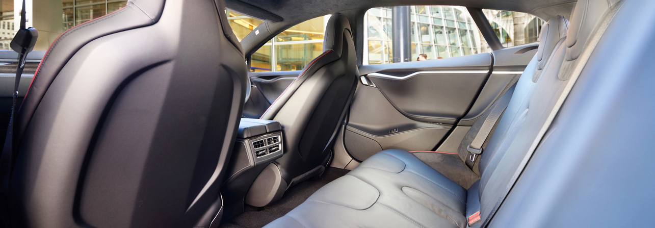 Berkeley Square Chauffeur Services Tesla Interior
