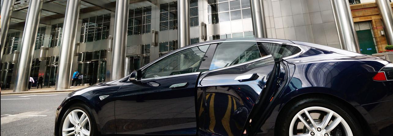 Berkeley Square Tesla Car